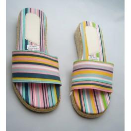 Instappers - roze-blauw-groen-geel