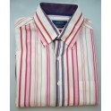 Arrow shirt Miami Beach - roodpaarsroze