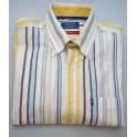 Arrow shirt Miami Beach - geelblauwbruin